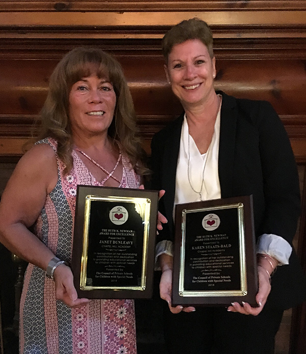 Janet Dunleavy and Karen Staats-Bald, award winners