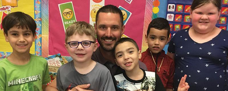 John Ferris with students