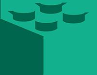 green lego block illustration